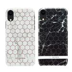 SO SEVEN iPhone XR SO SEVEN FASHION MILAN HEXAGONAL MARBLE BLACK/SILVER
