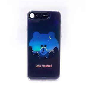 LINE FRIENDS iPhone SE 第2世代 (SE2)/8/7 Light UP CASE ブラウン - 拡大画像