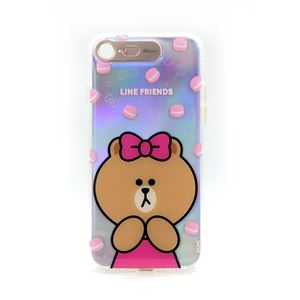 LINE FRIENDS iPhone SE 第2世代 (SE2)/8/7 Light UP CASE チョコマカロン - 拡大画像