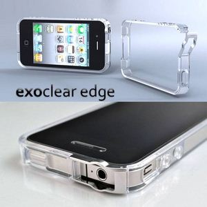 E304◆iPhone4S / iPhone4  バンパーケース exoclear edge (エクソクリア エッジ) Clear - 拡大画像
