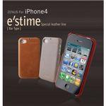 Z243i4★iPhone4S/iPhone4 対応ケース E`stime Bar 本革 Camel