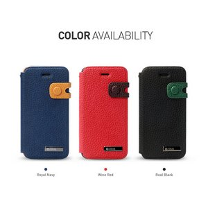 ★iPhone5★iPhone5 Masstige Color Edge Diary (mold type) Z1402i5 Real Black - 拡大画像