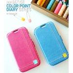 docomo【GALAXY S4 SC-04E】Zenus Masstige Color Point Diary(マステージ カラーポイントダイアリー) レザーケース☆ピンク