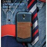 docomo【GALAXY S4 SC-04E】Masstige Denim Vintage Pocket Bar(マステージ デニムビンテージ風ポケット) Z2049GS4