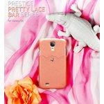 docomo【GALAXY S4 SC-04E】Zenus Masstige Pretty Lace Bar(マステージ プリティレースバー) レザー/ アイボリー