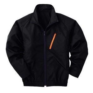 空調服 ポリエステル製長袖ブルゾン P-500BN 【カラー:ブラック サイズ:XL】 電池ボックスセット - 拡大画像