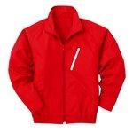 空調服 ポリエステル製長袖ブルゾン P-500BN 【カラー:レッド(赤) サイズ:LL】 電池ボックスセット