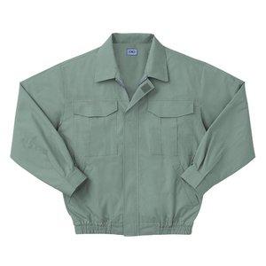 空調服 綿薄手長袖作業着 M-500U 【カラーモスグリーン: サイズ L】 電池ボックスセット - 拡大画像