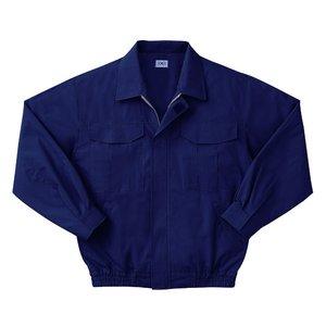 空調服 綿薄手長袖作業着 M-500U 【カラーダークブルー: サイズM】 電池ボックスセット - 拡大画像