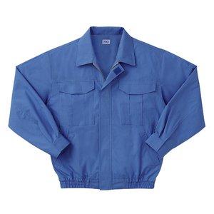 空調服 綿薄手長袖作業着 M-500U 【カラーライトブルー: サイズLL】 電池ボックスセット - 拡大画像