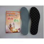 「宇宙のくつ下」シリーズ ミネラルインソール 水玉ブラック(リバーシブルタイプ) 24cm【5枚セット】 (靴の中敷き)