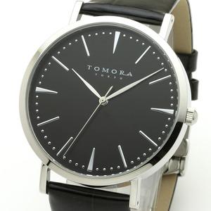 TOMORA TOKYO(トモラトウキョウ) 腕時計 日本製 T-1601-SBKBK - 拡大画像