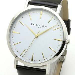 TOMORA TOKYO(トモラトウキョウ) 腕時計 日本製 T-1601-GWHBK - 拡大画像
