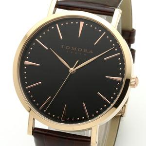 TOMORA TOKYO(トモラトウキョウ) 腕時計 日本製 T-1601-PBKBR - 拡大画像