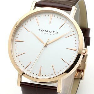 TOMORA TOKYO(トモラトウキョウ) 腕時計 日本製 T-1601-PWHBR - 拡大画像