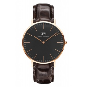 Daniel Wellington(ダニエルウェリントン) CLASSIC BLACK Rose gold 40mm York  - 拡大画像
