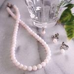【ホワイト系】特選あこや本真珠 3点セット(6.5-7mm)/品質保証書付