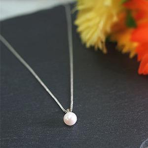 【ホワイト系】あこや本真珠 7.0-7.5mm ペンダント - 拡大画像