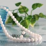 【ホワイト系】特選あこや本真珠 ネックレス・イヤリング2点セット(6.5-7.0mm)/品質保証書付