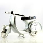 ミニチュア置時計 バイク スクーター/MC-C3133-MS