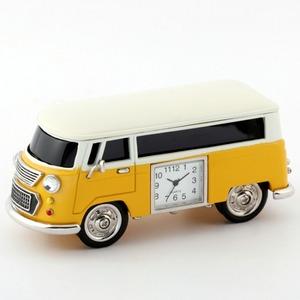 ミニチュア置時計 車 バス/MC-C3159-YL - 拡大画像