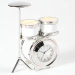 ミニチュア置時計 ドラム 楽器 /MC-C3206-WH