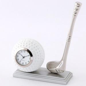 ミニチュア置時計 ゴルフボール クラブ/MC-C3231 - 拡大画像