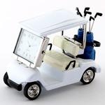 ミニチュア置時計 ゴルフカート/MC-C3570-WH
