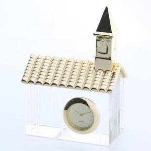 ミニチュア置時計 クリスタル 教会/MC-CR0009 - 拡大画像