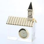 ミニチュア置時計 クリスタル 教会/MC-CR0009