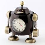 ミニチュア置時計 ロボット アンティーク アラーム機能付き/MC-AC3043-BR