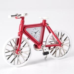 ミニチュア置時計 自転車 レッド ホワイト 赤 白/MC-C3005-RDWH - 拡大画像