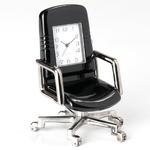ミニチュア置時計 イス 椅子 チェア ブラック 黒/MC-C3012-BK