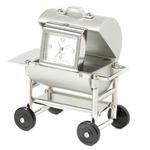 ミニチュア置時計 バーベキュー BBQ シルバー 銀/MC-C3061-MS