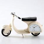 ミニチュア置時計 スクーター バイク ベージュ/MC-C3133-BG