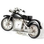 ミニチュア置時計 バイク ブラック 黒/MC-C3152-BK