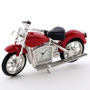 ミニチュア置時計 バイク レッド 赤/MC-C3152-RD - 拡大画像