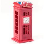 ミニチュア置時計 電話ボックス ユニオンジャック レッド 赤青白/MC-C3172-UK