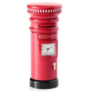 ミニチュア置時計 郵便ポスト レッド 赤/MC-C3202 - 拡大画像