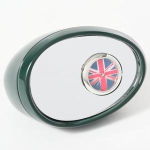 ミニチュア置時計 サイドミラー 緑 グリーン/MC-C3215-DGR - 拡大画像
