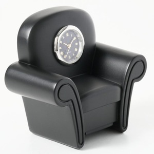 ミニチュア置時計 ソファー 1人掛けソファ ブラック 黒/MC-C3218-BK - 拡大画像