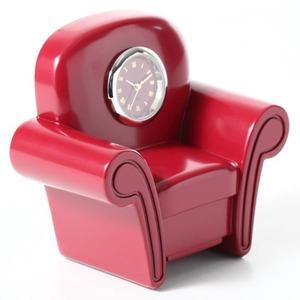 ミニチュア置時計 ソファー 1人掛けソファ レッド 赤/MC-C3218-BRD - 拡大画像
