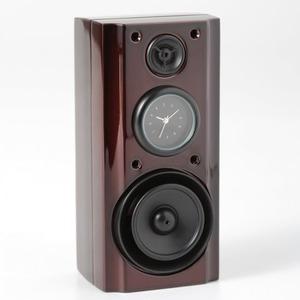 ミニチュア置時計 スピーカー ブラウン 茶色 MC-C3309-BR - 拡大画像