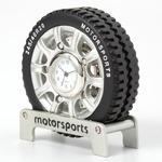 ミニチュア置時計 タイヤ 車 ブラック 黒/MC-C3349-MS