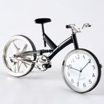 ミニチュア置時計 自転車 ブラック 黒/MC-C3584-BK