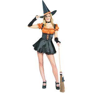 【コスプレ】 RUBIE'S(ルービーズ) ADULT(アダルト) コスプレ Orange Sexy Witch(オレンジ セクシー ウィッチ) Stdサイズ - 拡大画像