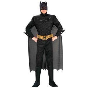 RUBIE'S(ルービーズ) BATMAN(バットマン) コスプレマスク Adult Dx. Batman Dark Knight(アダルト バットマン ダーク ナイト) Mサイズ - 拡大画像