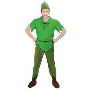 【コスプレ】 RUBIE'S(ルービーズ) DISNEY(ディズニー) コスプレ ピーターパンシリーズ Adult Peter Pan(ピーター・パン) Stdサイズ - 拡大画像