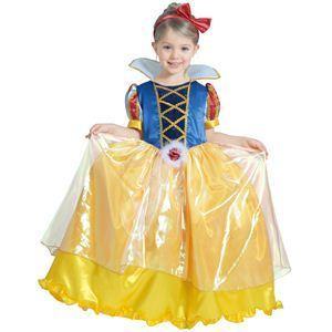 【コスプレ】 RUBIE'S(ルービーズ) DISNEY(ディズニー) コスプレ PRINCESS(プリンセス)シリーズ 白雪姫 Child DX Snow White(チャイルド スノウ ホワイト) Sサイズ - 拡大画像