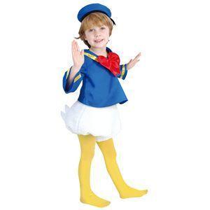 【コスプレ】 RUBIE'S(ルービーズ) DISNEY(ディズニー) コスプレ Child Donald(ドナルド) Todサイズ(キッズ・子供用) - 拡大画像